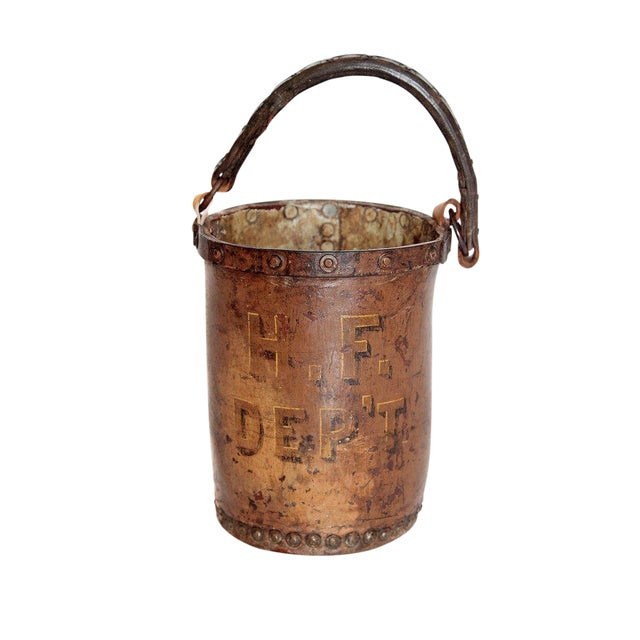 A 19th Century English Leather Fire Bucket For Sale
