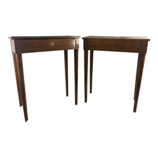 Charles X Burled Walnut Side Tables - A Pair