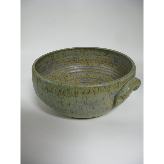 Clay 1970s Mid Century Modern Studio Pottery Bowl For Sale - Image 7 of 13