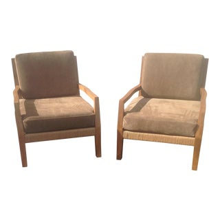 Mid Century Style Rope Lounge Chairs with Cushions - a Pair For Sale