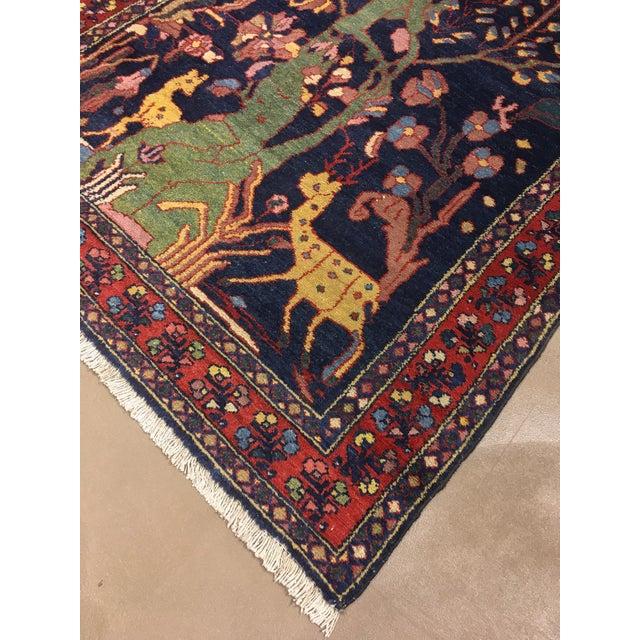 "Folk Art Antique Persian Lillihan Tree of Life Rug, 4'3"" X 8'2"" For Sale - Image 3 of 10"
