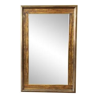 Bernhard Rohne for Mastercraft Acid-Etched Frame Bevelled Mirror For Sale