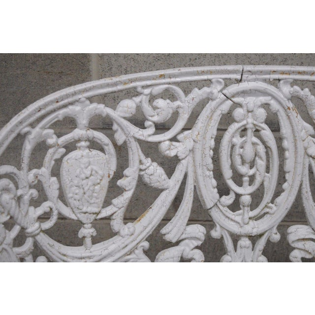 Antique Cast Iron Victorian Garden Bench - Image 9 of 11