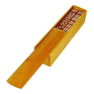 Hand Made Wooden Dominoes Set, Double 9, Double 6 in Wood Box