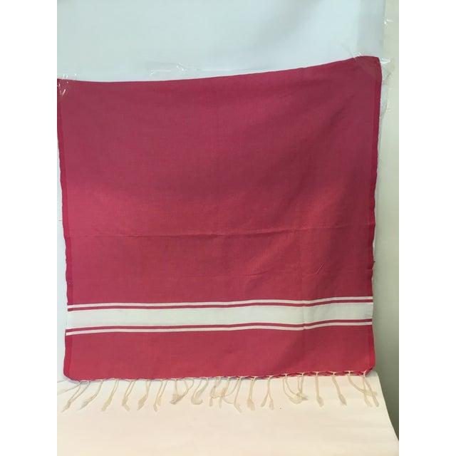 Pink Striped Tunisian Hammam Towel - Image 2 of 3