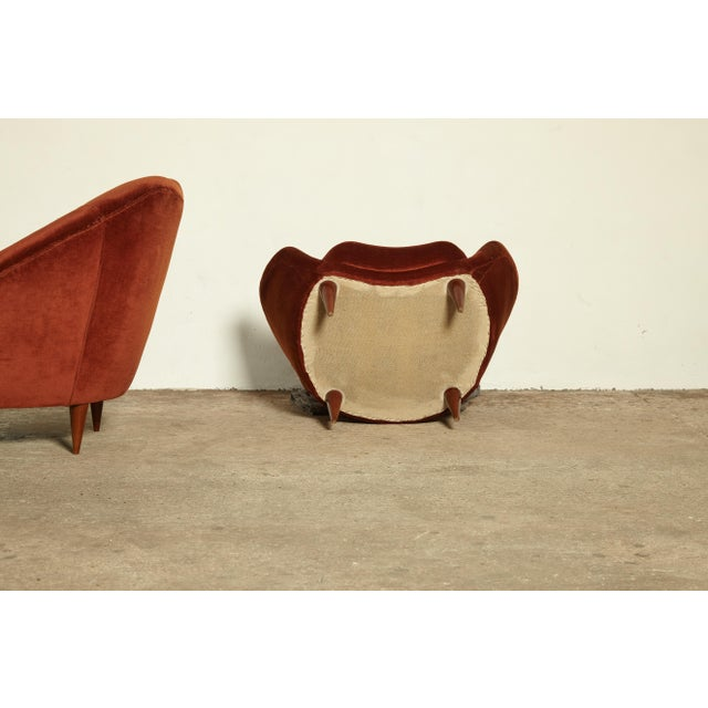 Fabric Pair of Federico Munari Lounge Chairs Italy, 1960s For Sale - Image 7 of 8