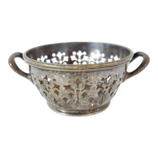Reed & Barton Silver Soldiered Pierced Palace Hotel Bowl