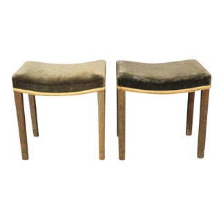 Pair of 1930s George VI Coronation Stools For Sale