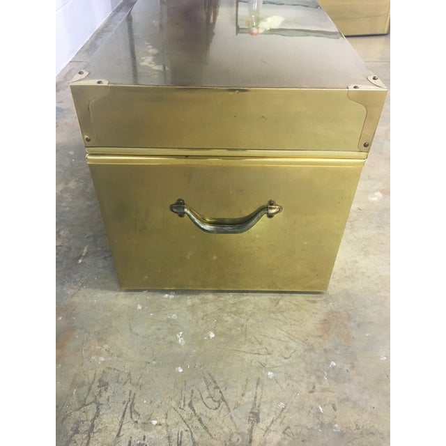 Dresher Cedar Lined Brass Trunk With Glass Top - Image 6 of 11