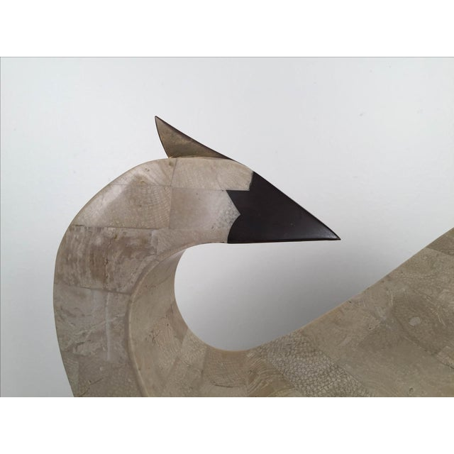 Tessellated Stone And Brass Abstract Bird - Image 4 of 8