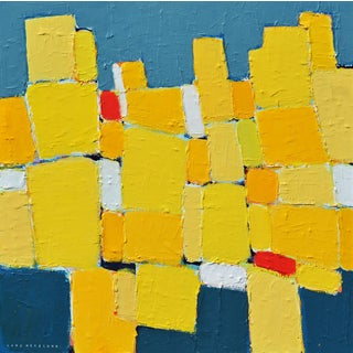 'La Ville Jaune' Original Abstract Painting by Lars Hegelund For Sale