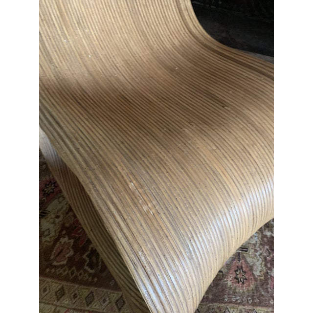 Sculptural Pencil Reed Bamboo Ear Lounge Chair For Sale - Image 12 of 13