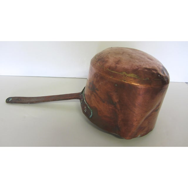 Antique French Copper Sauce Pan - Image 4 of 7