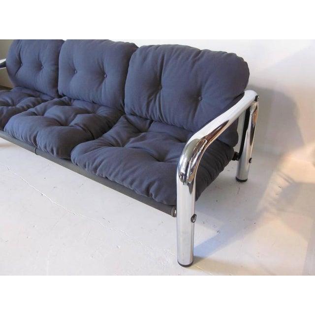 Mid-Century Modern John Mascheroni Tubular Chrome Sling Sofa For Sale - Image 3 of 7
