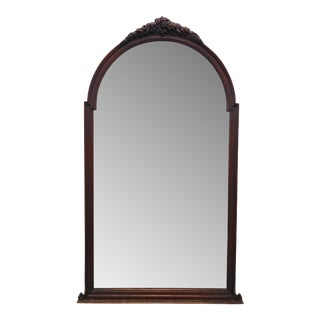 Antique Carved Mahogany Mirror For Sale
