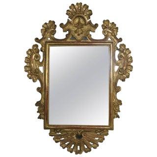 19th Century Italian Gilt Wood Mirror For Sale