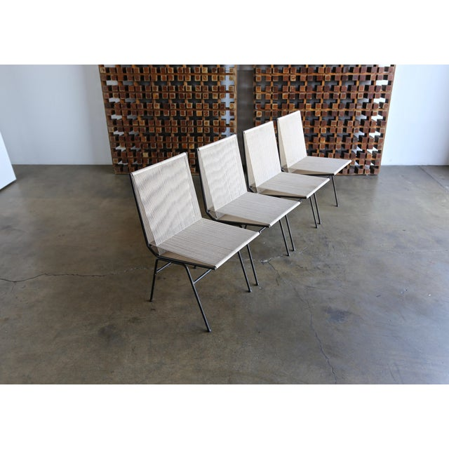 Mid-Century Modern Allan Gould String Steel Chairs - Set of 4 For Sale - Image 9 of 13