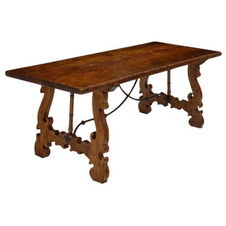 French Antique Trestle Table For Sale