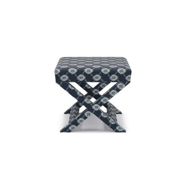 X Bench in Lattice Shibori For Sale - Image 4 of 4