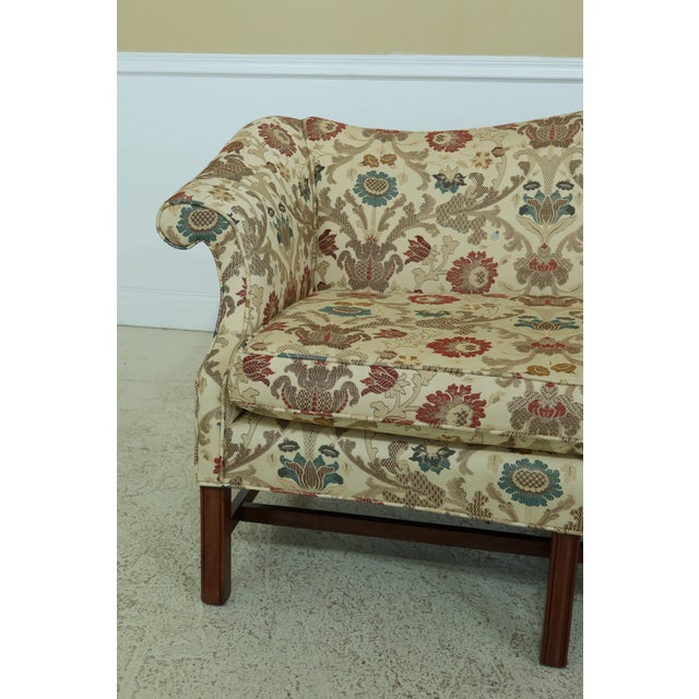 Chippendale Chippendale Style Quality 8 Legged Mahogany Camelback Sofa For Sale - Image 3 of 10