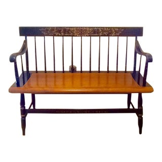 Hitchcock Harvest Deacons Bench For Sale