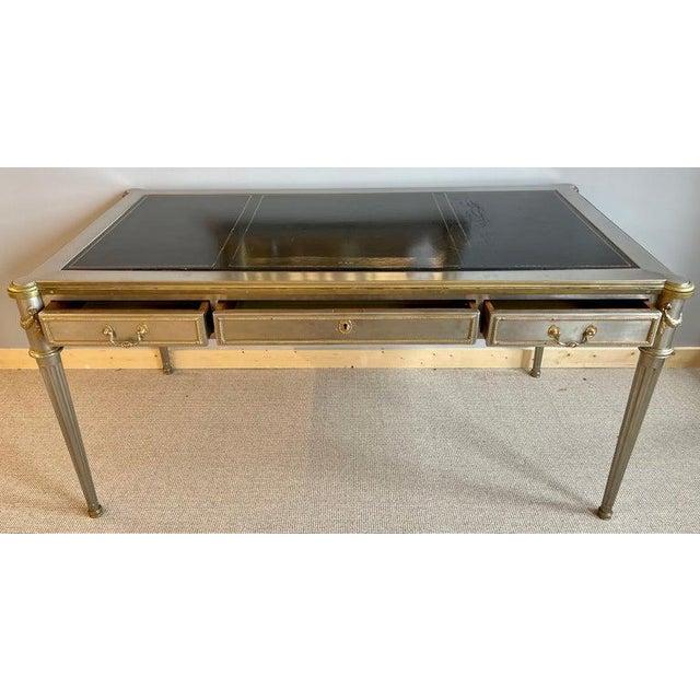 John Vesey Mid-Century Modern Desk or Bureau Plat. Steel and Bronze For Sale - Image 10 of 12