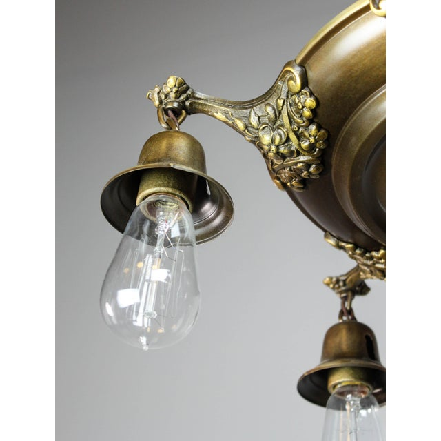 Colonial Revival Light Fixture (5-Light) For Sale - Image 9 of 10