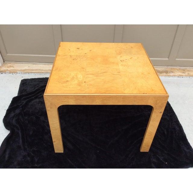 Mid Century Modern Henredon Scene Two Burlwood Table For Sale - Image 10 of 11
