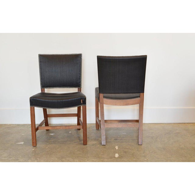 Rud Rasmussen Set of Four Kaare Klint Red Chairs, 1954 For Sale - Image 4 of 5