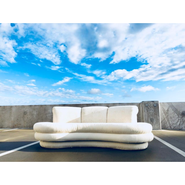 """1980s 1980s Vintage Adrian Pearsall for """"Comfort Designs"""" Curved Kidney Shaped Sofa For Sale - Image 5 of 9"""