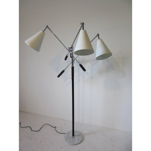White Italian Triennale Floor Lamp in the style of Angelo Lelli For Sale - Image 8 of 8