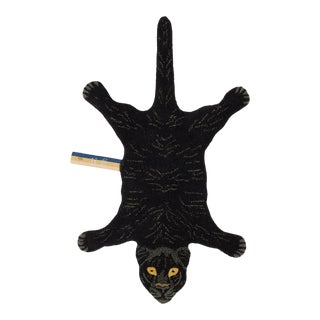 Doing Goods Fiery Black Panther Rug Small For Sale