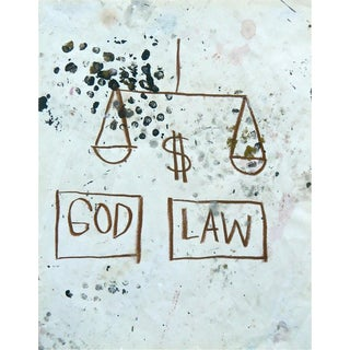Untitled (God-Law), Giclee Print, Jean-Michel Basquiat For Sale