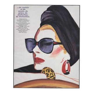 1986 French Summer Fashion Print-By Gruau For Sale