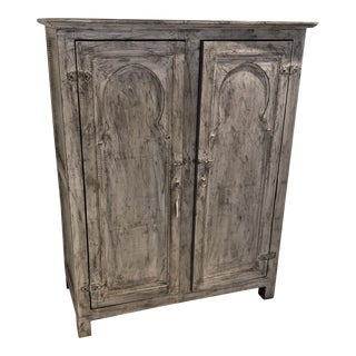 Moroccan Grey Armoire For Sale