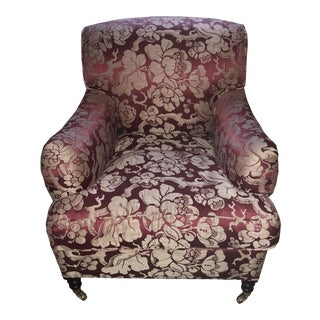 George Smith Upholstered Chair With Japonais Spice Fabric For Sale