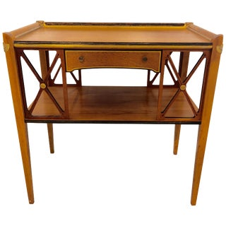 Charming Neoclassical Style Side Table With Drawer For Sale