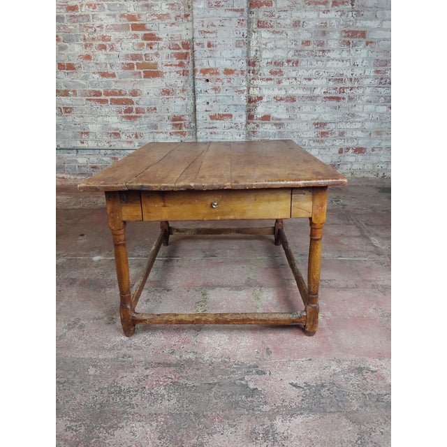 19th Century English Walnut Farm Coffee Table For Sale - Image 4 of 10