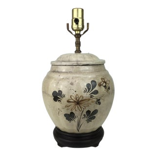 1970s Traditional China Cookie Jar Lamp For Sale