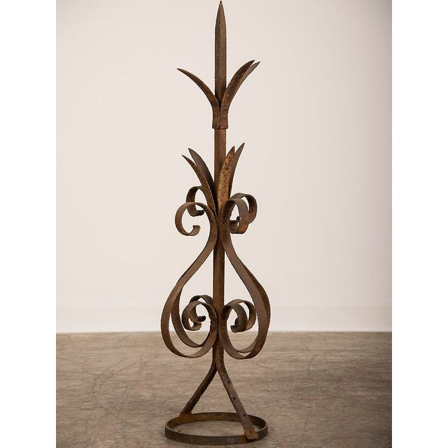 Antique Rustic French Hand-Forged Iron Finial, Normandy, circa 1880 - Image 4 of 6