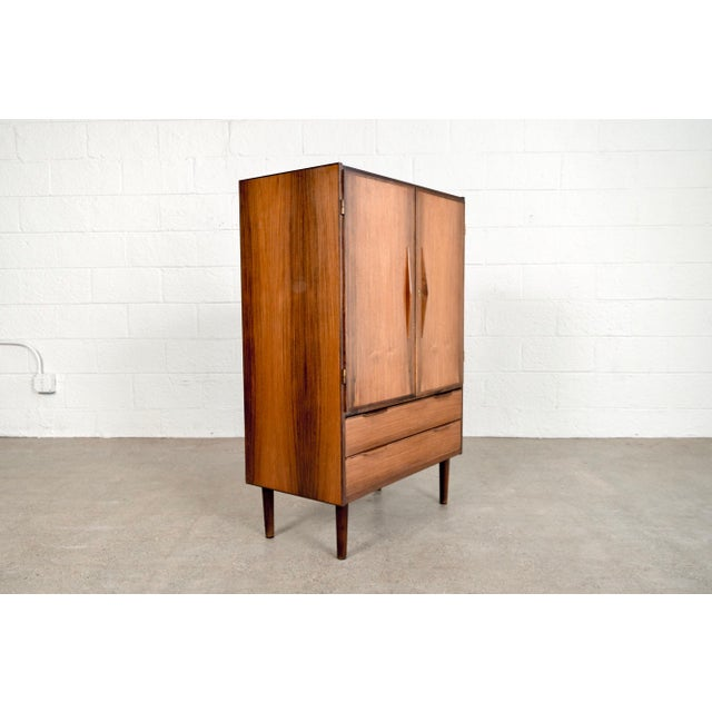 Mid Century Danish Modern Rosewood Bar Cabinet For Sale - Image 5 of 11