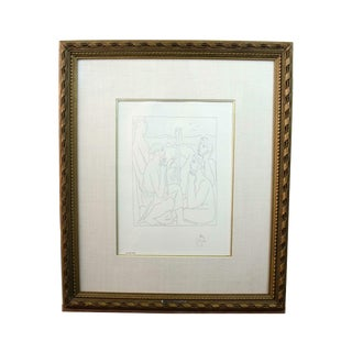 "1970s Vintage Picasso ""Nestor's Tales of the Trojan War"" Etching Print For Sale"