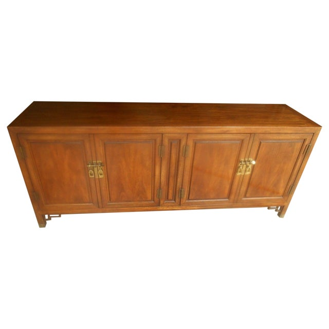 Mid-Century Maple and Brass Credenza by Century - Image 1 of 10