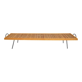 Mid-Century Modern Ross Littell and William Katavolos Low Iron and Birch Dowel Coffee Table For Sale