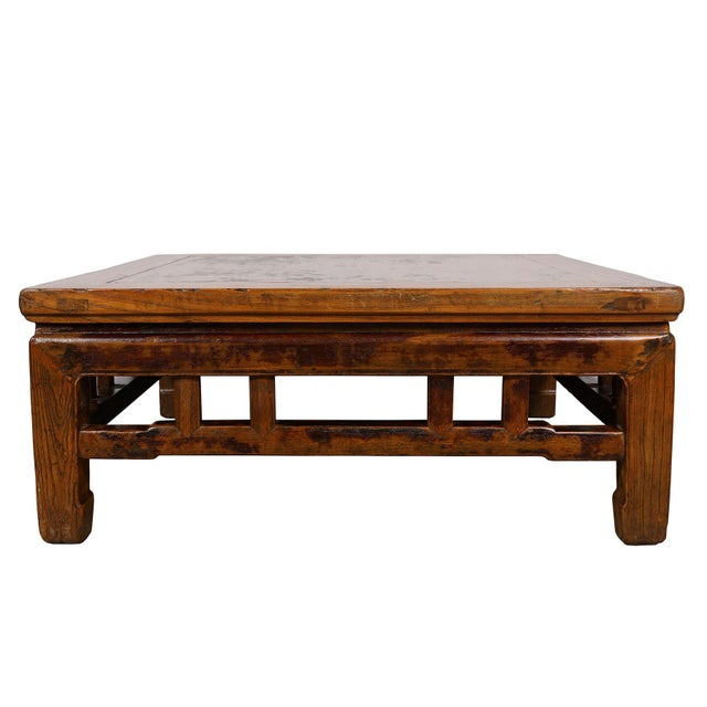 Antique Chinese Carved Kang Table/Coffee Table For Sale - Image 11 of 12