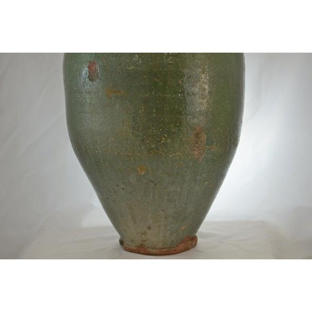 Americana Turkish Oversize Dark Green Glazed Urn For Sale - Image 3 of 9