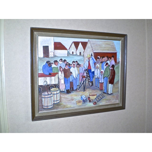 """The Farm Wake,"" Painting by Evelyn Singer - Image 3 of 3"