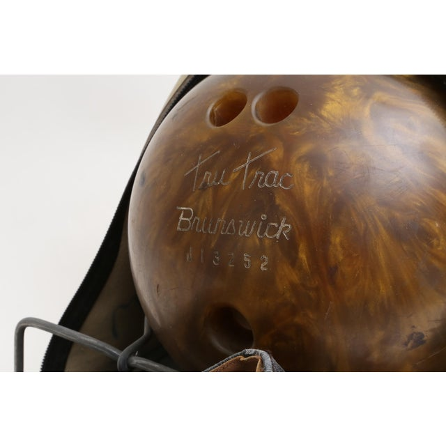 Vintage Brunswick Wind Jammer Bowling Carrying Bag, Ball, & Shoes Set For Sale - Image 5 of 5