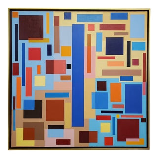 """""""Untitled"""" Contemporary Geometric Hard Edge Acrylic Painting by Sassoon Kosian For Sale"""
