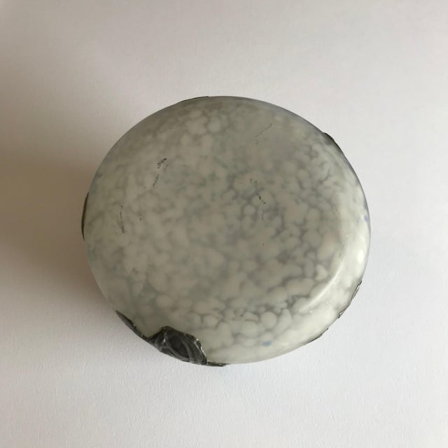 Art Glass Vase With Silvered Metal Overlay For Sale In Chicago - Image 6 of 7
